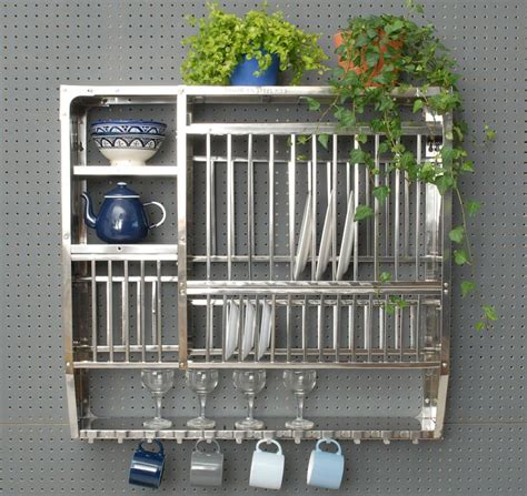 Stainless Steel Wall Mounted Plate Rack by Stainless Steel Plate Rack Large Kitchen