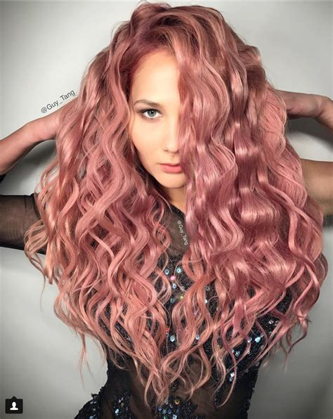 rose gold hair dye rose gold hair color ideas 2017 to try right now
