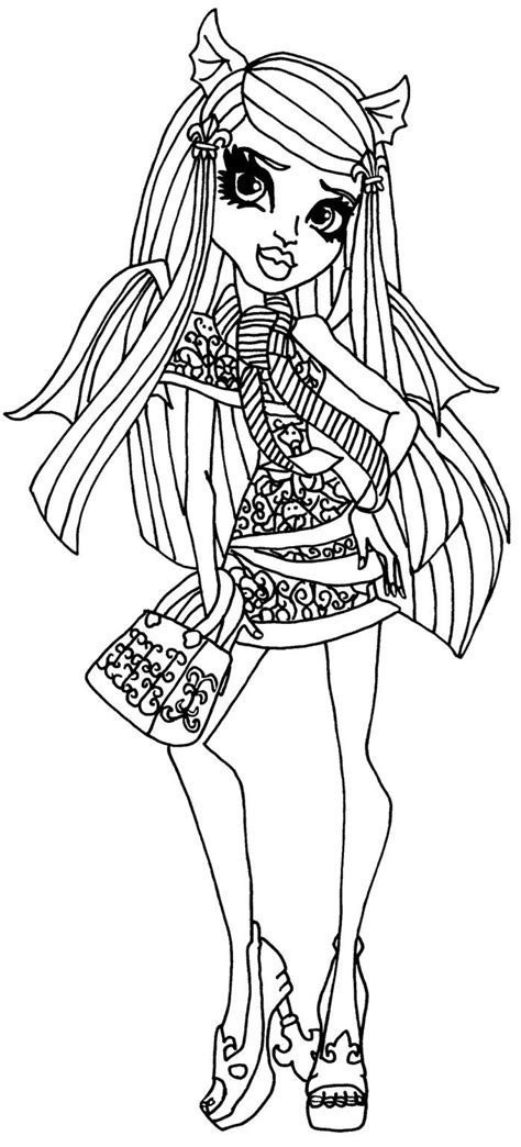 monster high rochelle coloring pages 37 best images about colouring monster high on pinterest