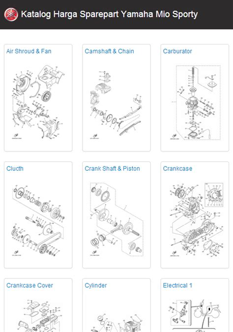 Sparepart Yamaha Mio 2011 yamaha mio sporty sparepart android apps on play