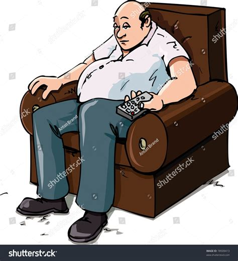 couch potato music video cartoon couch potato on chair isolated stock vector