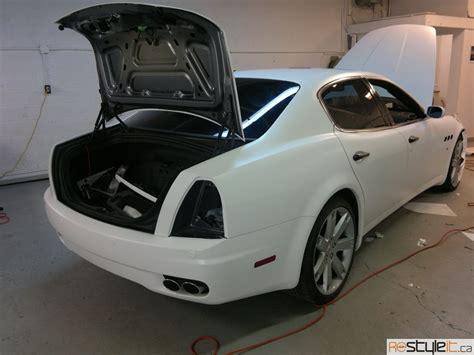 matte maserati quattroporte matte white maserati quattroporte vinyl car wrap car