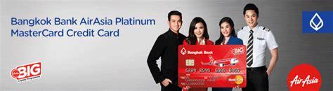 bangkok bank credit card airasia credit card
