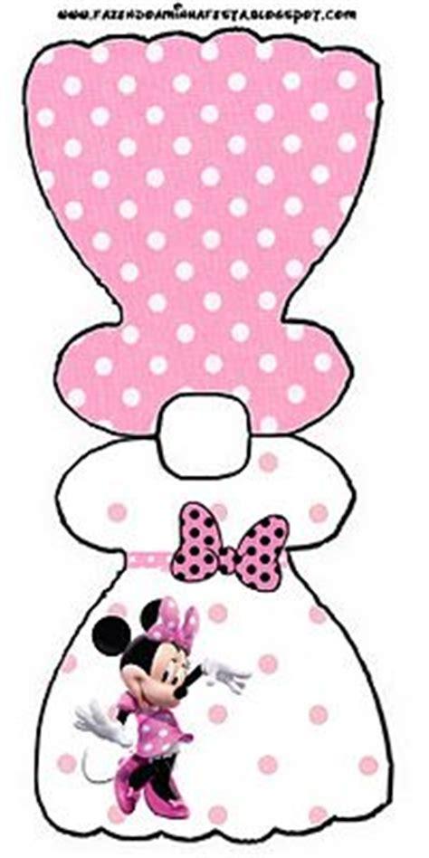 angelitos vestidos de minnie en foamy imprimibles gratis de minnie mouse en fondo rosa con