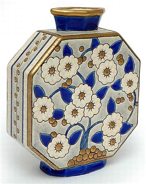 Royal Doulton Glass Vase A Longwy Faience Ceramic Art Decorative Arts