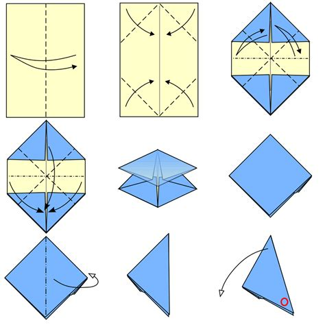 How To Make A Paper File - file origami paper popper type1 svg wikimedia commons