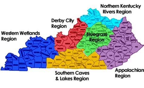 Region Of Kentucky by Kentucky Regions Map Map