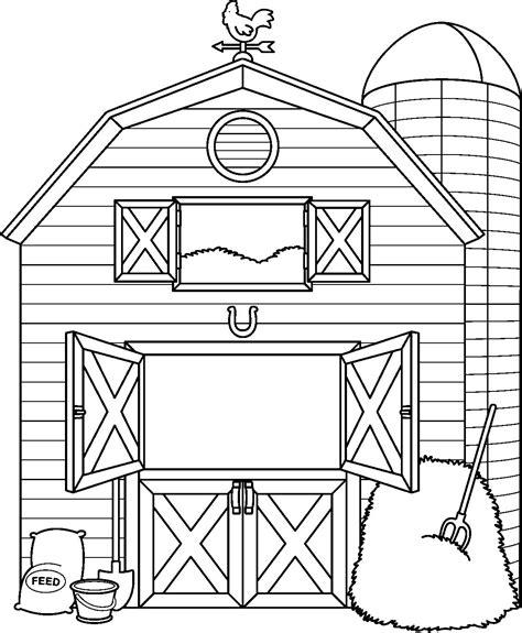 simple clean black and white dibujos para colorear de una granja de animales imagenes