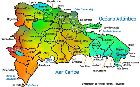 mapa de republica dominicana cabarete dominican republic map