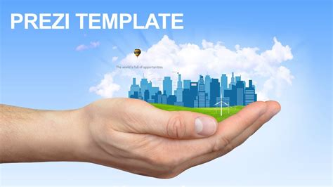 prezi templates 3d reach your goals prezi template