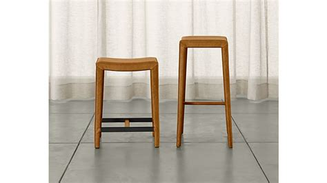 Ls Plus Counter Stools by Folio Top Grain Leather Backless Counter Stool