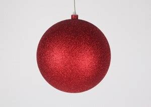 200mm 8 quot glitter ornament with wire