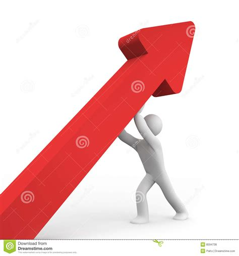 And Up by The Person Brings Up Arrow Stock Illustration