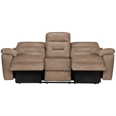 beige reclining sofa city furniture dk beige microfiber power