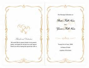 free wedding program templates for microsoft word word wedding program free template wedding plans