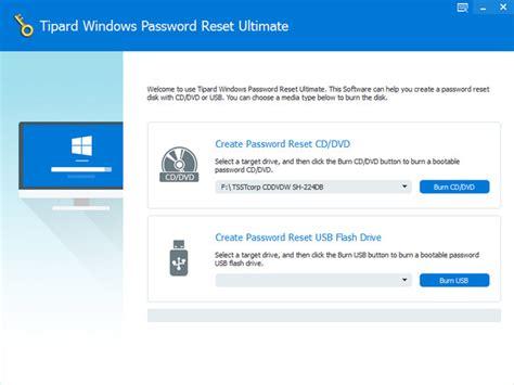 reset windows password v 1 1 0 148 tools tipard windows password reset platinum v1 0 8