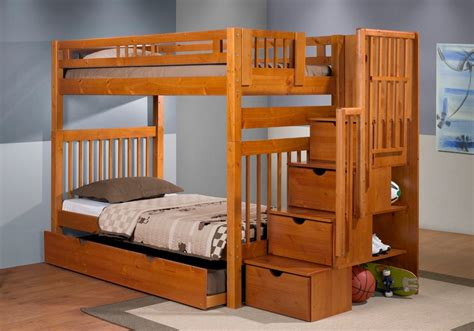 Staircase Bunk Bed With Trundle Ingenious Staircase Bunk Bed With Trundle Loft Bed Design