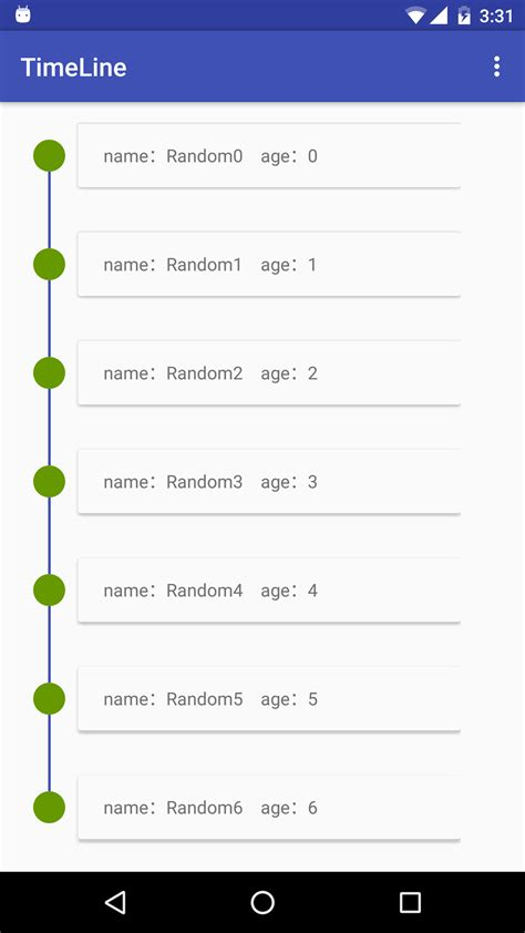 android timeline timeline view uplabs