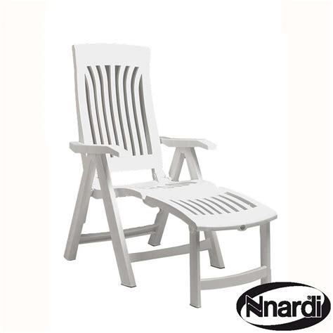 Reclining Outdoor Chair With Footrest Flora Chair With Footrest In White