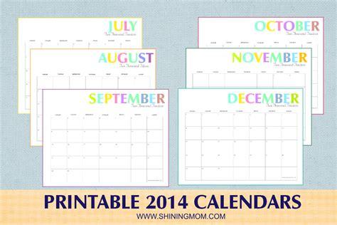 december 2014 printable calendar shining mom free printable colorful 2014 calendars by shining mom