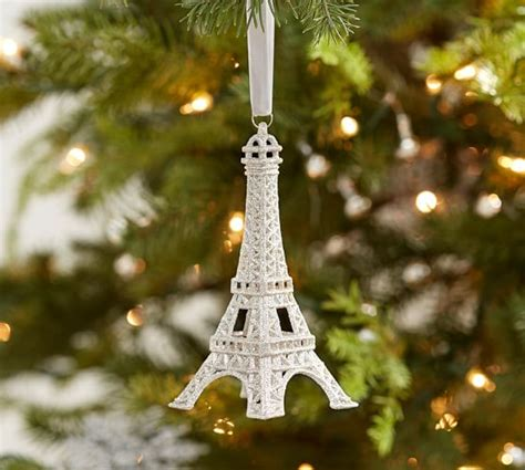 cut crystal eiffel tower xmas ornament 2017 pottery barn buy more save more sale furniture home decor up to 30