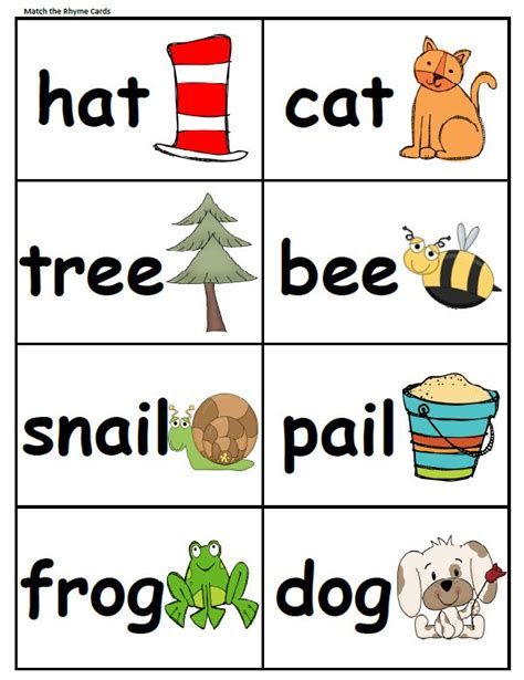 printable rhyming puzzles 17 best images about lit rhyming words word families on