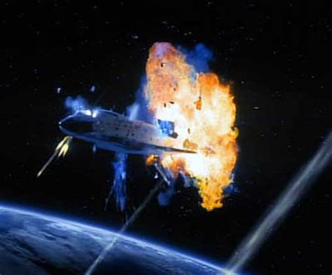 when did the space shuttle challenger up israeli anti missile test blew up space shuttle columbia