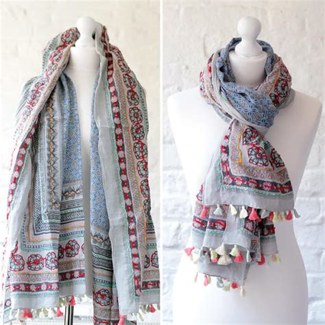 Embroidered Scarf one hundred scarves embroidered cotton scarves