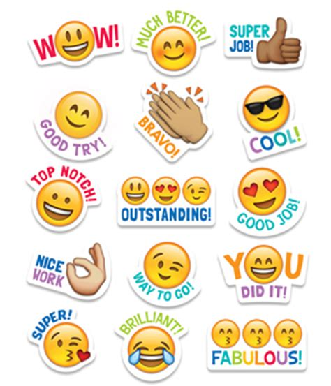 printable motivational stickers for students students will love these emoji stickers sweet and silly