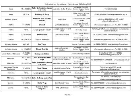 Calendario De Actividades Calendario De Actividades 21 De Septiembre