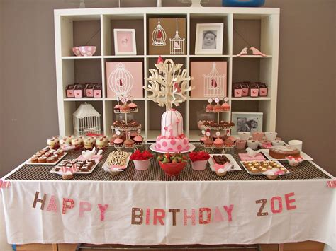 party table ideas sweet tooth dessert table little birdie