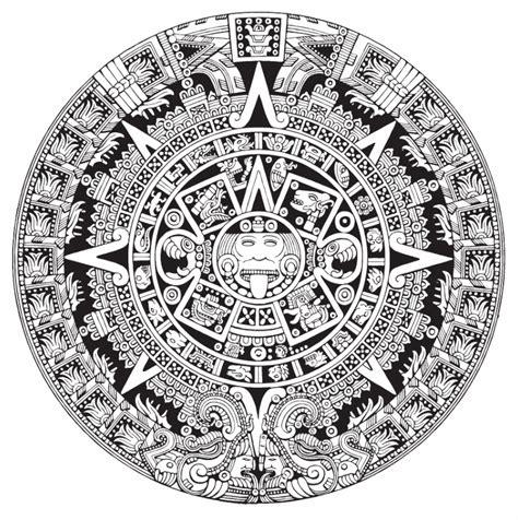 Calendario Azteca Para Colorear Imagen De Calendario Azteca Para Colorear Imagui