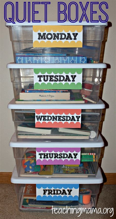 box ideas for preschoolers time boxes