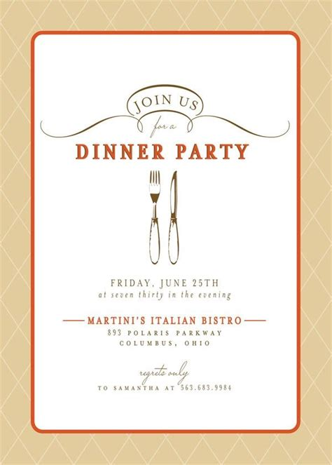 Dinner Card Design