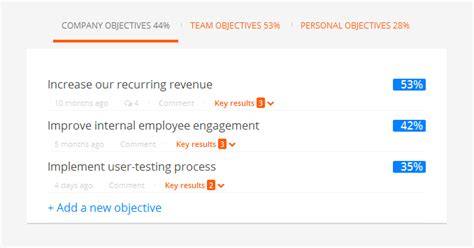 Introducing Okr S In Weekdone Objectives And Key Results Weekdone Objectives And Key Results Template
