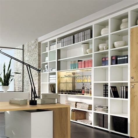Office Shelving Ideas | 43 cool and thoughtful home office storage ideas digsdigs