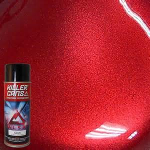 alsa refinish 12 oz candy apple red killer cans spray