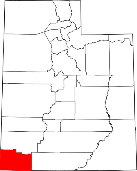Washington County Utah Search File Map Of Utah Highlighting Washington County Svg Wikimedia Commons