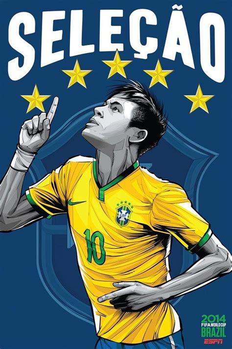 espn brazil football world cup  poster series