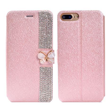 Op4805 Flip Cover Wallet Bling Glitter For Iphone 6 Plus Kode Bi 1 Bling Rhinestone Pu Leather Flip Wallet Cover