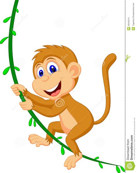 cartoon monkey swinging on a vine hanging monkey cartoon clipart panda free clipart images