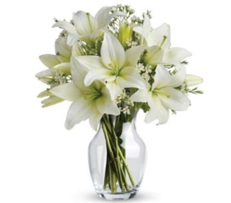 Lilies In Vase by White Lilies In A Glass Vase Flower Delivery