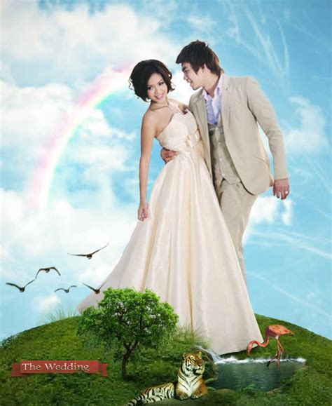 foto pernikahan unik  desain undangan prewedding elegant