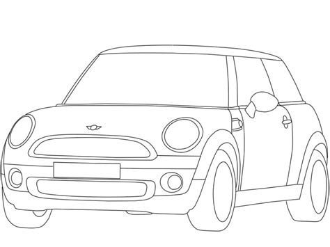 Mini Coloring Pages cars mini cooper coloring pages