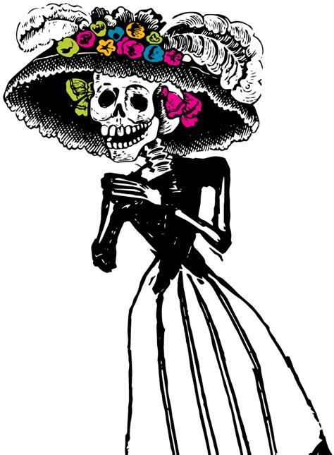 Imagenes De La Catrina De Dia De Muertos | el dia de muertos dibujos para colorear ciclo escolar