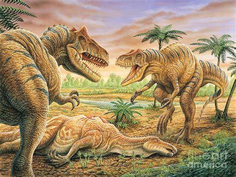 dinosaur painting free allosaurus painting by phil wilson