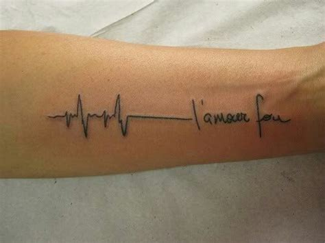 voice pattern tattoo sound wave tat with script tattoos pinterest