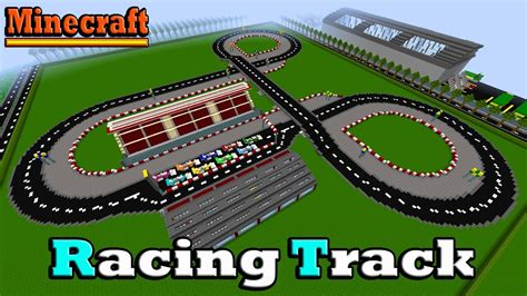 minecraft race car minecraft f1 racing track youtube