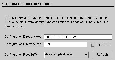 to install identity synchronization for windows core