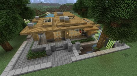 Minecraft Survival House Tutorial by How To Build A Modern Survival House In Minecraft